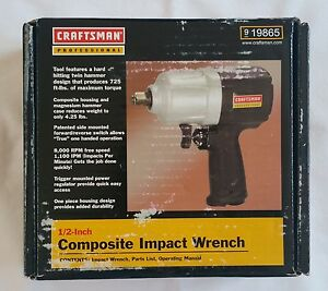 Nib Craftsman Professional 1 2 Composite Pneumatic Impact Wrench