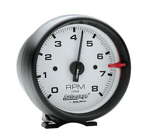 Auto Meter 2303 3 3 4 White Face Tach Black Cup