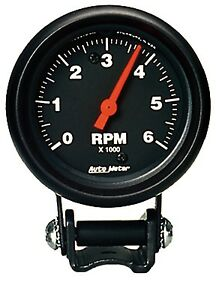 Auto Meter 2891 6000 Rpm Black Tach Mini