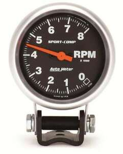 Auto Meter 3708 2 5 8 8 000 Rpm Mini Tach