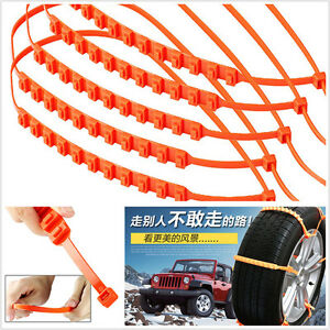 10x Car Truck Snow Wheel Tire Kit Anti Skid Antiskid Chains Thickened Tendon Tpu