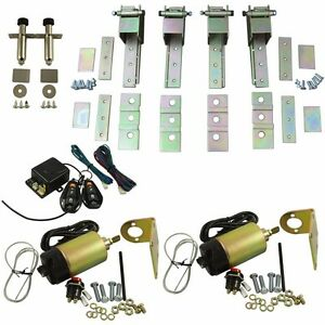 Universal 85 Lbs Shaved Door Remote Kit With 2 Door Suicide Hidden Hinges Kit