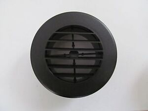4 Black Round Rotaire Grille Heat Covered Screws Outlet Vent 3940bk Rv Trailer