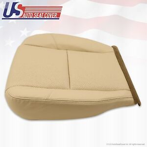 2007 Cadillac Escalade Driver Side Seat Bottom Leather Cover Tan Perforated