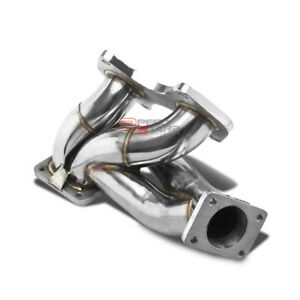 For 93 98 Mazda Rx7 Fd3s 13b Fd T4 Stainless Steel Turbo Manifold Exhaust Kit