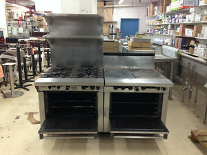Garland Hotel Series Range W Four 18 Spider Burners And Two French Tops