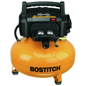 Bostitch Btfp02012 6 gallon 150 Psi 78 5 Dba Oil free Electric Compressor New