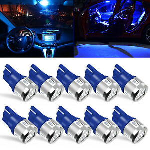 10x Pure White Led Lights Interior Package Kit For Dome License Plate Lamp Bulbs