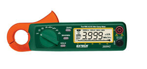 New Extech 380942 Clamp Meter Dmm Mini 30a Ac dc True Rms