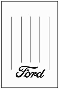 1932 1934 Ford Truck Bed Floor Cover With F 001 Ford Script Logo