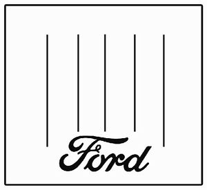 1928 1929 Ford Model A Panel Delivery Bed Floor Cover F 001 Ford Script Logo