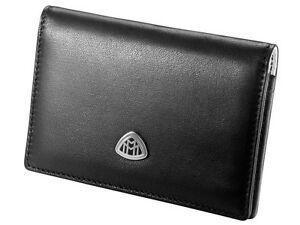Orig Mercedes Benz Maybach Business Cards Case Case Case Lamb Leather Black Logo
