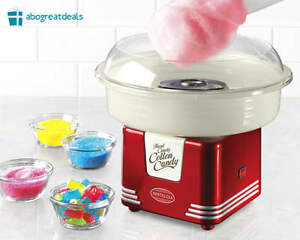 Retro Cotton Candy Sugar Machine Maker For Kids Nostalgia Play Kit Vintage Toy