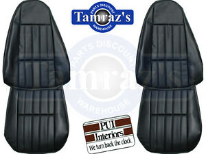 1980 1981 Camaro Standard Front Seat Upholstery Covers Vinyl Pui New