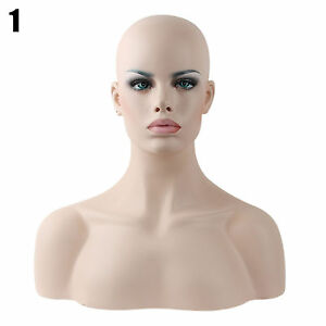 Realistic Mannequin Head Fiberglass Hat Glasses Mold Stand Torson Wig African