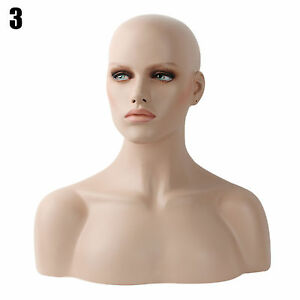 Realistic Mannequin Head Fiberglass Hat Glasses Mold Stand Torson Wig African 3