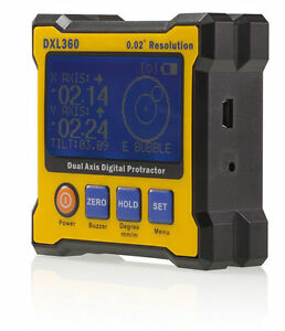 Dxl360 Digital Protractor Inclinometer Level Box Strong Magnet All Sides W Lcd