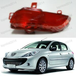 Tail Rear Bumper Fog Light Lamp Rh Side For Peugeot 206 207