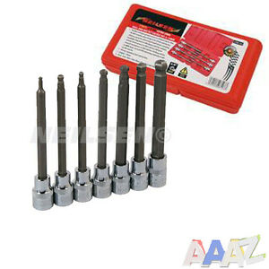 Long 7pc 3 8 Dr Hex Allen Key Bit Socket Set