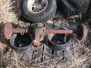 1952 Through 1964 Willys Jeep Station Wagon Complete Rear Axle Drum To Drum