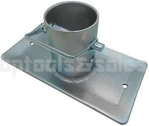 2 000lbs Trailer Jack Foot Plate W Pin Base For A frame Boat Rv Camper Trailer