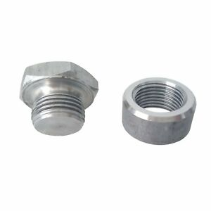 Mild Steel 1 2 Bung Plug Kit For Innovate 3736 Air Fuel Ratio Monitor
