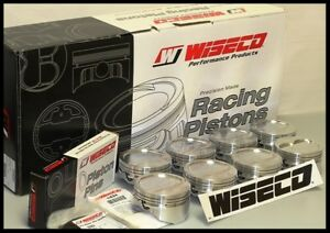 Ford 347 Wiseco Forged Pistons Rings 030 Over 14cc Dish Top Kp492a3