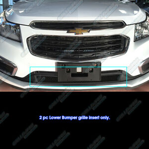Fits 2015 2016 Chevy Cruze Lower Bumper Stainless Steel Black Mesh Grille