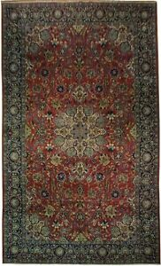 Red 10 7 X 17 6 Large Area Rug Authentic 11x18 Persian Isfahan Najaf Rug