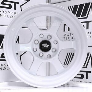 15 15x8 0 Offset 4x100 114 3 Mst Mt01 Candy White 6 Spoke With Lip Tuner Wheels