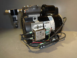 Gast 72r Air Pump Compressor Single Cyl Oil less Rocking Piston 1 3hp Emi Hepa