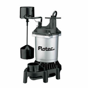 Flotec Fpzs50v 1 2 Hp Thermoplastic Submersible Sump Pump W Vertical Float