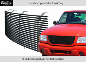 Fits 2001 2003 Ford Ranger Edge xlt 4wd Stainless Black Billet Grille Open Top