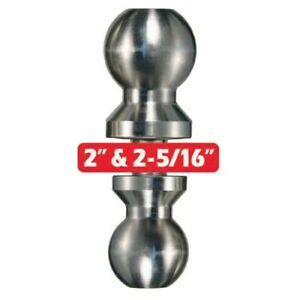 Trimax Stainless Steel Double Sided Trailer Hitch Tow Ball 2 2 5 16 Receiver