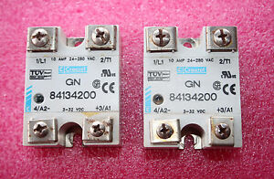 Crouzet Gn 84134200 Solid State Relay Ip00 10a 240vac Dc Input 2 Pieces