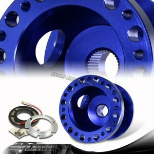 Blue Cnc 6 Hole Bolt Racing Steering Wheel Hub Adapter Kit For Toyota Scion
