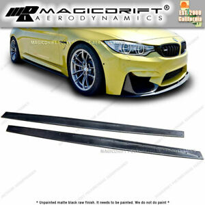 For 15 19 Bmw M4 F82 F83 M Side Skirts Lip Splitter Extension Performance Kit