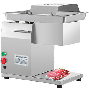 110v Stainless Commercial Meat Slicer Cutting Machine Cutter 250kg hour
