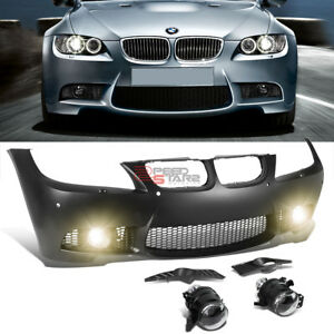 For 09 11 Bmw E90 3 Series W Pdc M3 M Sport Style Front Bumper Cover Fog Light