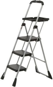 Cosco Platform Aluminum Folding Ladder Step Stool Multi Purpose Scaffold 4ft