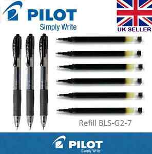 Pilot Pen G207 Gel Ink Refill For G2 G2ex G23 Alphagel Execugel Gelx Black