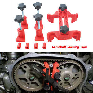 Universal Auto Car Dual Cam Clamp Camshaft Timing Sprocket Gear Locking Tool Kit