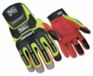 Impact Gloves high Visibility Green synthetic Leather xl Ringers Gloves 146 11