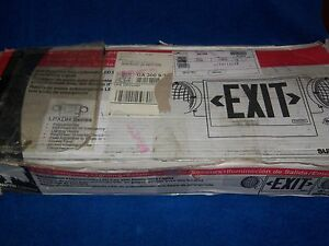 Cooper Lighting Emergency Exit Sign Lpxdh Series Black