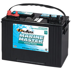 Deka Genuine New 27m6 Marine Starting Battery 1050amp Cranking Power group 27