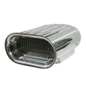 Polish Aluminum Ram Air Cleaner Scoop Finned Single Four Barrel Car Boat 5 1 8