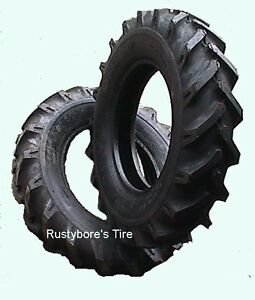 Two Tires 6 00 14 6ply Deestone Tractor Lug Tires With Tubes