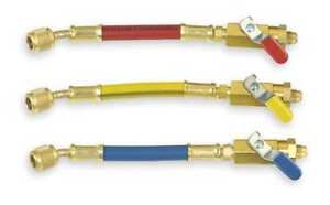 Ball Valve Hose Set 6 In red yellow blue Imperial 800 mbs