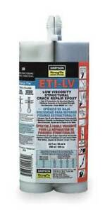 Strong tie Etilv22 g Crack Injection Resin 2 part Epoxy 22 Oz