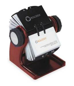 Rotary Card File 400 Ct Wood Rolodex 1734242